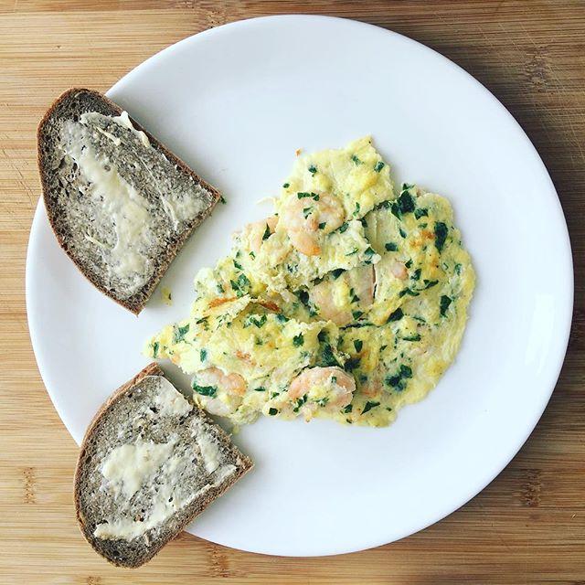 Omelett mit Garnelen und Zitrone nach Jamie Oliver im Kochbuchtest des Monats