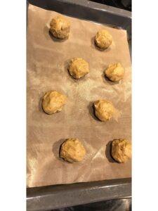 Bananen Cookies aus Modern Baking vor dem Backen