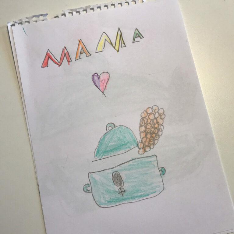 Der Kochbuch Podcast von meiner Tochter gemalt